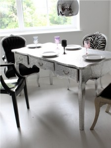 original_silver_embossed_dining_table_desk_3, not on the highstreet