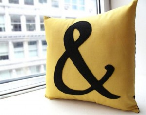 Ampersand Pillow, Honeypie Design on Etsy