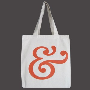 Recycled Cotton Canvas Tote -Ampersand Orange, Towne9