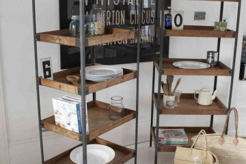 kitchen storage solutions suit strong tastes with industrial shelving