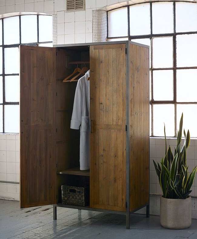 industrial style bedroom furniture free standing wardrobe homegirl