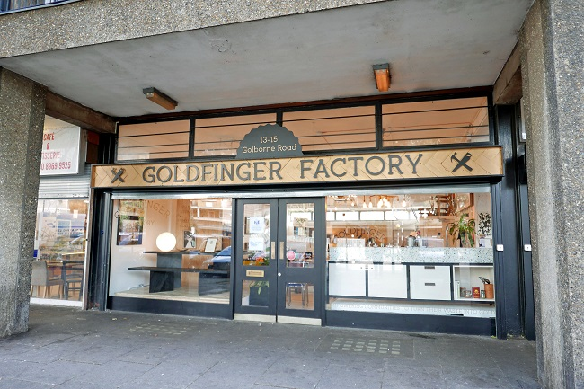 goldfinger factory shop front