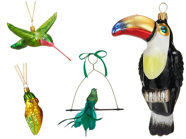 bird tropical christmas tree decorations