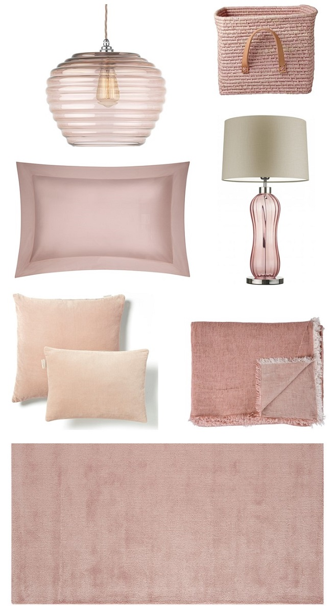 beautiful blush pink bedroom ideas moodboard
