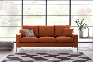 glowing amber living room ideas featured image