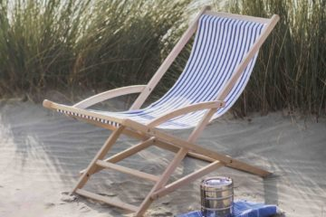 classic vintage style striped deck chairs, featured image