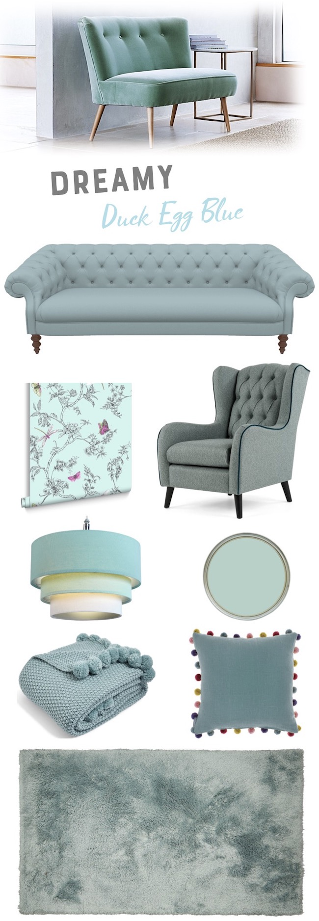 duck egg blue living room ideas mood board