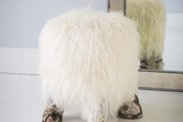 pretty perfect darling sheepskin stools picture